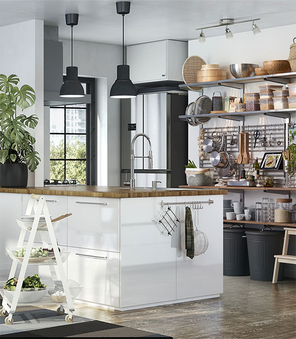 Use Accessories To Link Your Island To The Rest Of Your: METOD Kitchen
