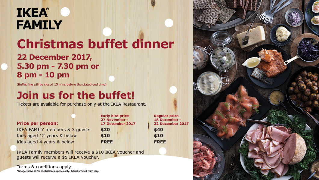 Christmas buffet 22 December 2017