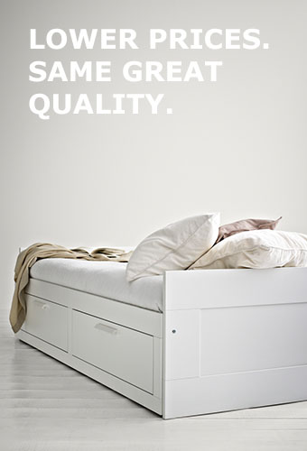 Visit IKEA in-store or shop online today for our range of 'Even Lower Priced' products. Lower prices. Same great quality.