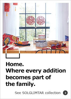 Have a truly special Chinese New Year with IKEA Home Furnishings, featuring our festive SOLGLIMTAR collection!