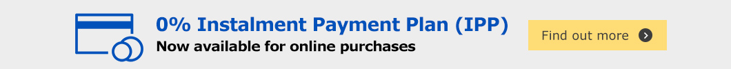 0% Instalment Payment Plan (IPP) - Now available for online purchase