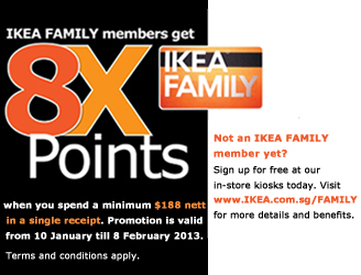 Free 50 Ikea Gift Card With 500 Home Furnishing Purchase 8x Points Family