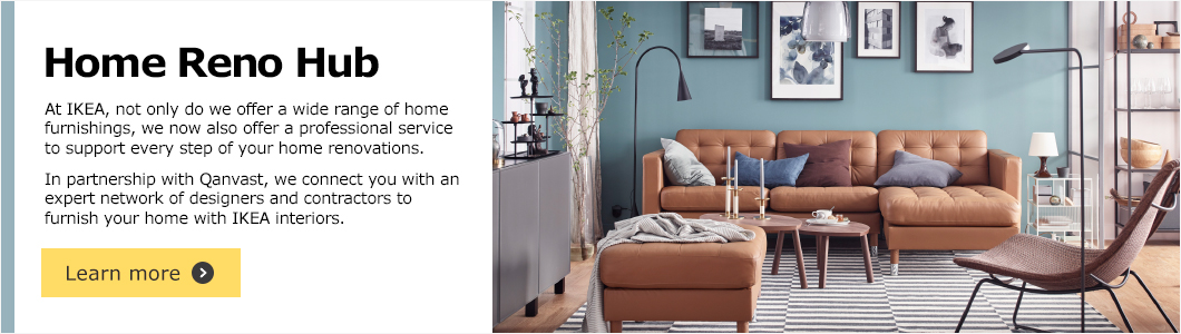 Home Renovations by IKEA in partnership with Qanvast - Click to find out more!