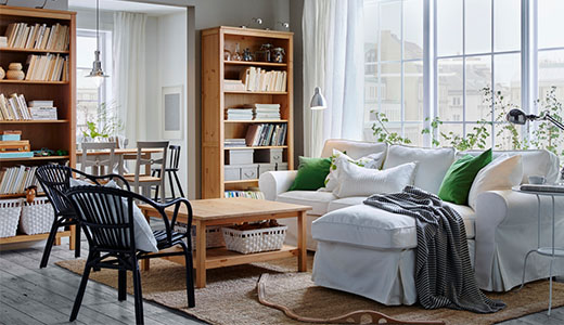 HEMNES Living Room Series Bookcases. Sustainable Beauty From  Sustainably Sourced Solid Pine, A Natural And Renewable Material That Gets