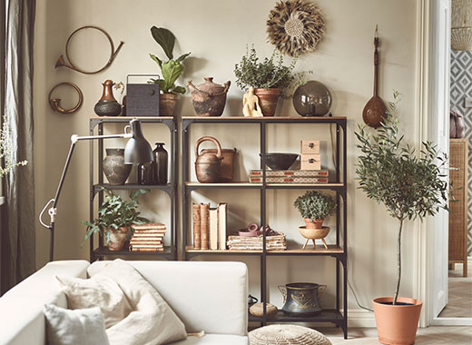 Our shelving units make great homes for all sorts of things, from beautiful objects you love to display to essentials you just need to keep track off. They come in different styles and sizes to match your taste and needs. Most have room at the back for cables, so they can hold your gadgets while the