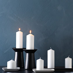 Go to candle holders & candles