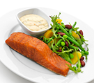 Salmon with Bean Salad