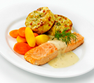 Salmon with lemon and dill sauce
