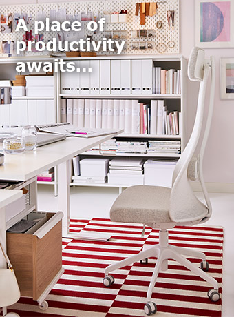 IKEA Home Furnishings seeks to inspire you to create your own place of productivity at work and at home.