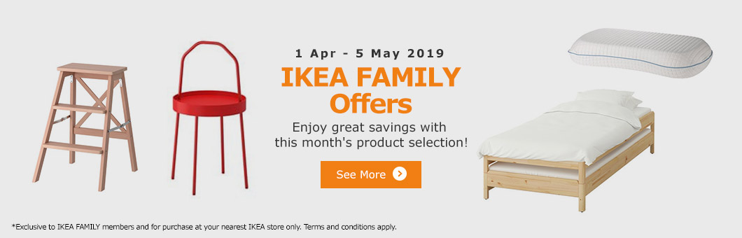 Browse our product offers for the month of April - exclusive to IKEA FAMILY members!