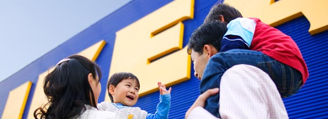 ikea welcome inside Ikea staff members welcome customers inside a new ikea in burbank, calif feb 8, 2017 the opening of the store has drawn a large crowd despite damp weather nick ut / ap photo.