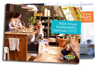 front page of the IKEA sustainability report 2012