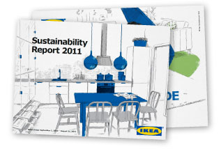 front page of the IKEA sustainability report 2011