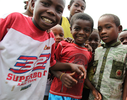 Some of the children we met on a recent trip to Madagascar