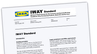front page of the IKEA IWAY document
