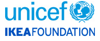 UNICEF logo and IKEA Foundation logo