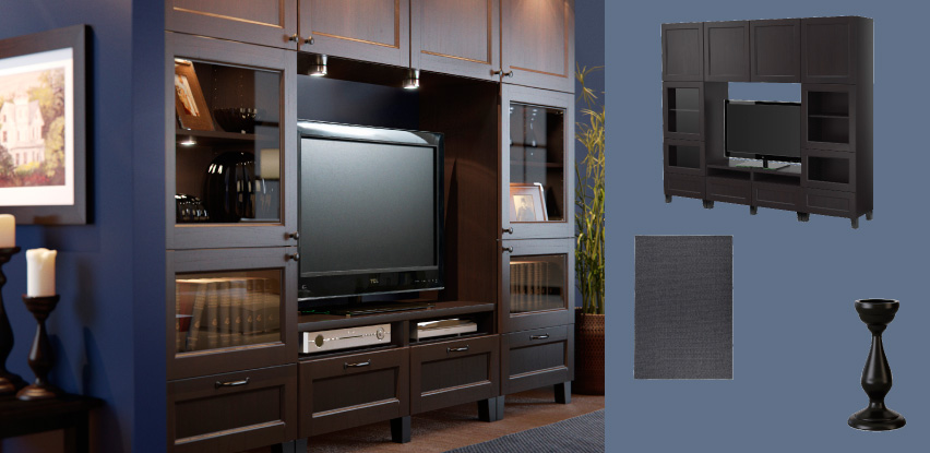 best black brown tv storage combination with drawers panel doors