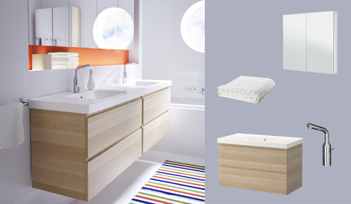Ikea Godmorgon Odensvik Plumbing ~ GODMORGON ODENSVIK wash stand with two drawers in white stained oak