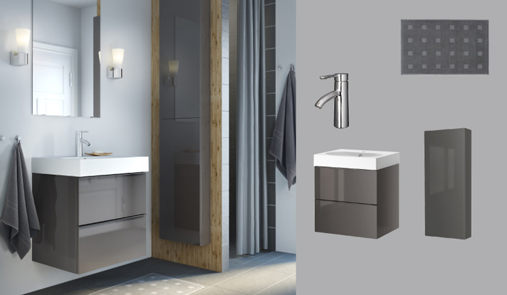 Bathroom furniture ideas ikea - Amenagement salle de bain 6m2 ...
