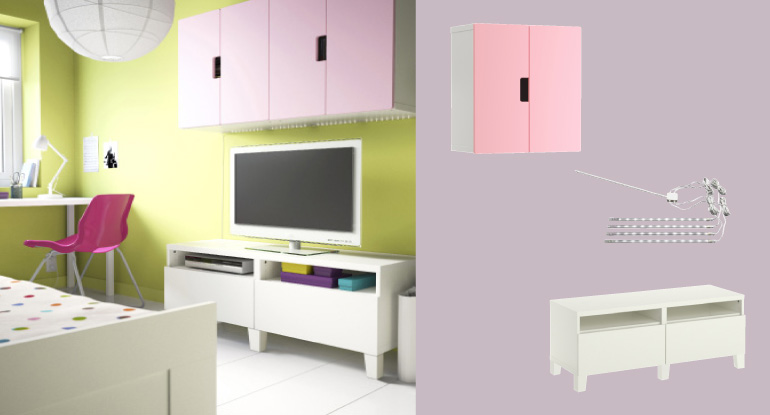 Ikea Besta Planer Android : BEST? white TV bench with drawers and STUVA white wall cabinets with
