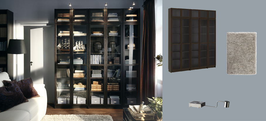 Aspelund Ikea Kleiderschrank Maße ~   tempered glass doors and GRUNDTAL stainless steel cabinet lighting
