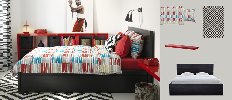 Bedroom furniture beds mattresses inspiration ikea - Ikea malm letto contenitore ...