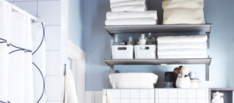 Smart bathroom storage
