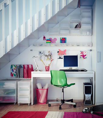 Bright and cheery workspace
