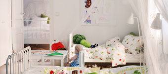 A fun, veggie-inspired child's bedroom
