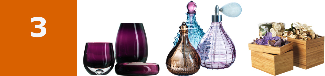 IDGRUND lilac 3-piece glass bathroom set