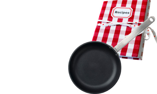 A non-stick frying pan