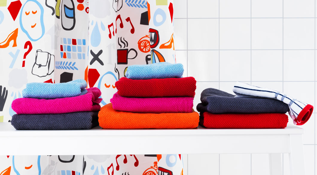 FRÄJEN towels made with extra soft and durable combed cotton.