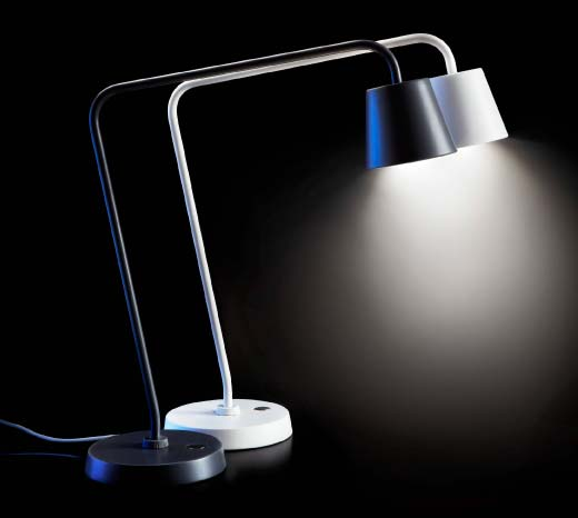 TISDAG work lamps have a built-in LED light source.