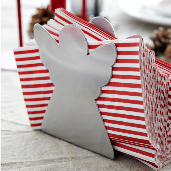 Napkins with JULFINT napkin holder.