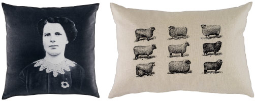 FJÄLLTÅG cushions including sheep print