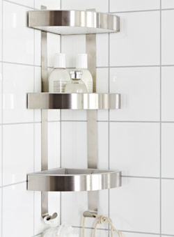 GRUNDTAL corner shelf for shower storage
