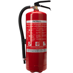 PATRULL fire extinguisher.