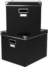 KASSETT boxes in black.