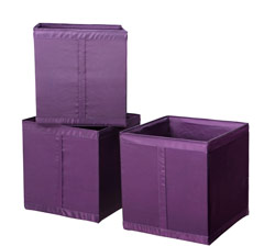 SKUBB boxes in lilac.