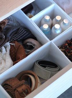 SKUBB interior organisers in a drawer