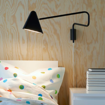 LED wall lamp with a long arm that you can move out from the wall
