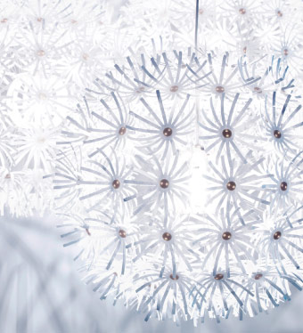 STOCKHOLM chandelier in transparent acrylic plastic