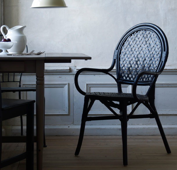 ÄLMSTA black handmade rattan chair