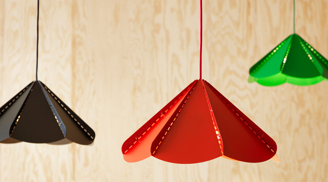 JONOSFÄR pendant lamp in various colours