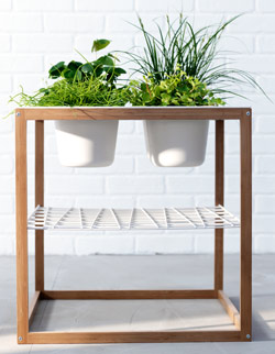 IKEA PS 2012 side table with 4 bowls for plant pots or to serve snacks