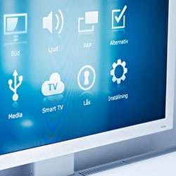 Display of UPPLEVA Smart TV user interface