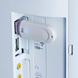 Close-up van UPPLEVA USB-poort