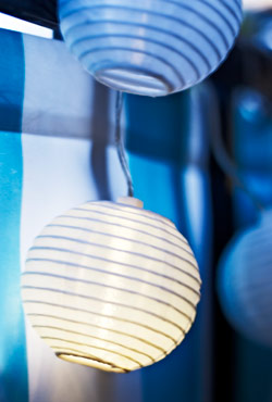 Close-up of SOLVINDEN outdoor lighting