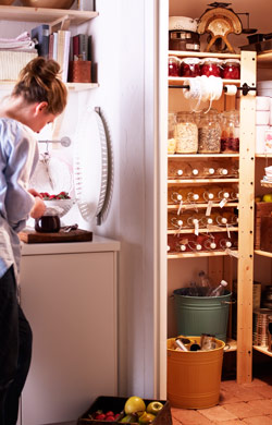 Pantry of homemade goodies