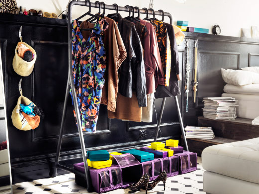 The fashionista's clothes storage
